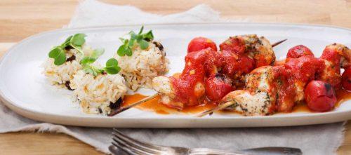 Kyllingspyd med chili og ingefær