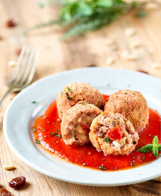 Tonfiskbullar med Pelato
