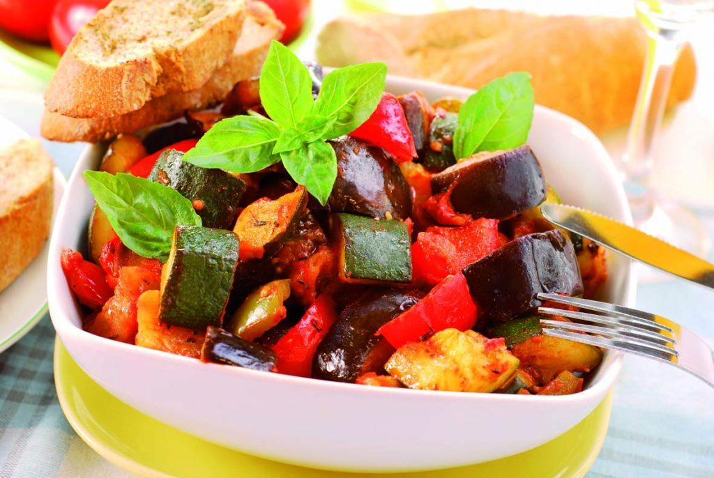 Caponata med zucchini