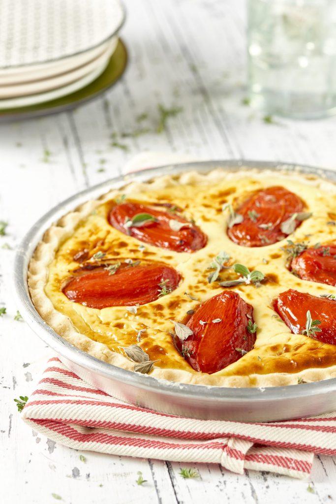 Ostquiche med tomat