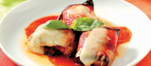 Rullader med aubergine och kött