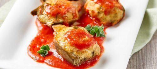 Tomatfyllda kronärtskockor