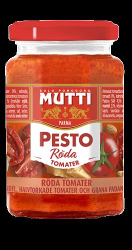 Röd pesto av tomater