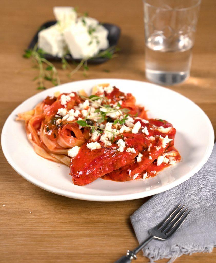Fläskfilé i tomatsås