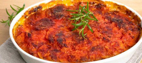 Kartoffelgratin Dauphinoise mit Tomaten
