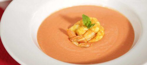 Aurora-Sauce mit Curry-Riesengarnelen