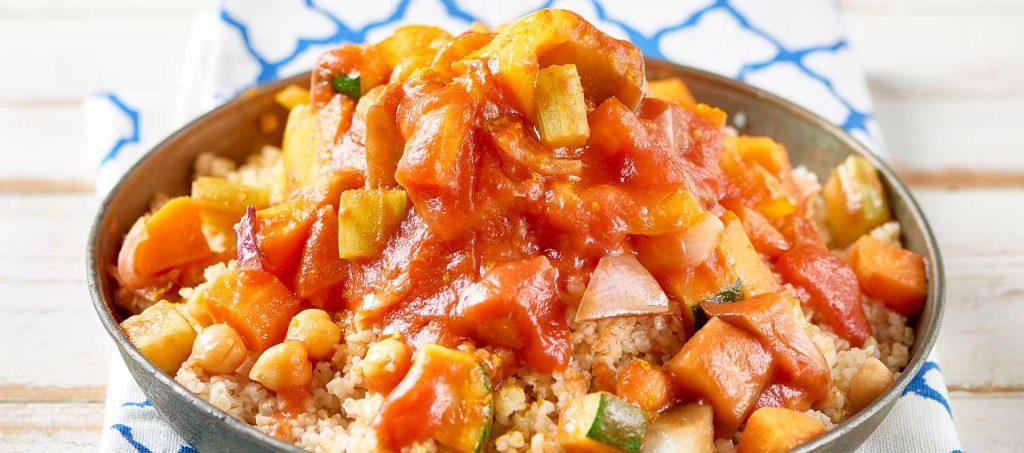 Cous Cous mit Gemüse und Tomaten