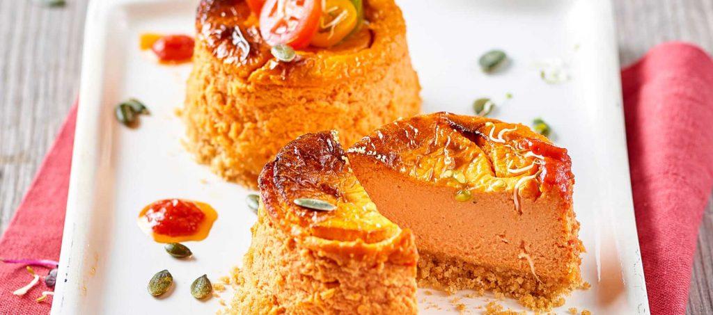 Tomaten-Cheesecake mit Frischkäse