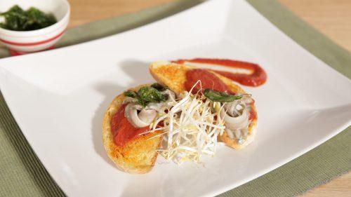 Vegetarische Bruschetta mit Marinierten Sardinen
