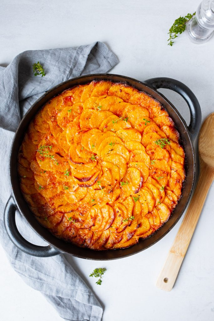 Tomatiges Kartoffelgratin