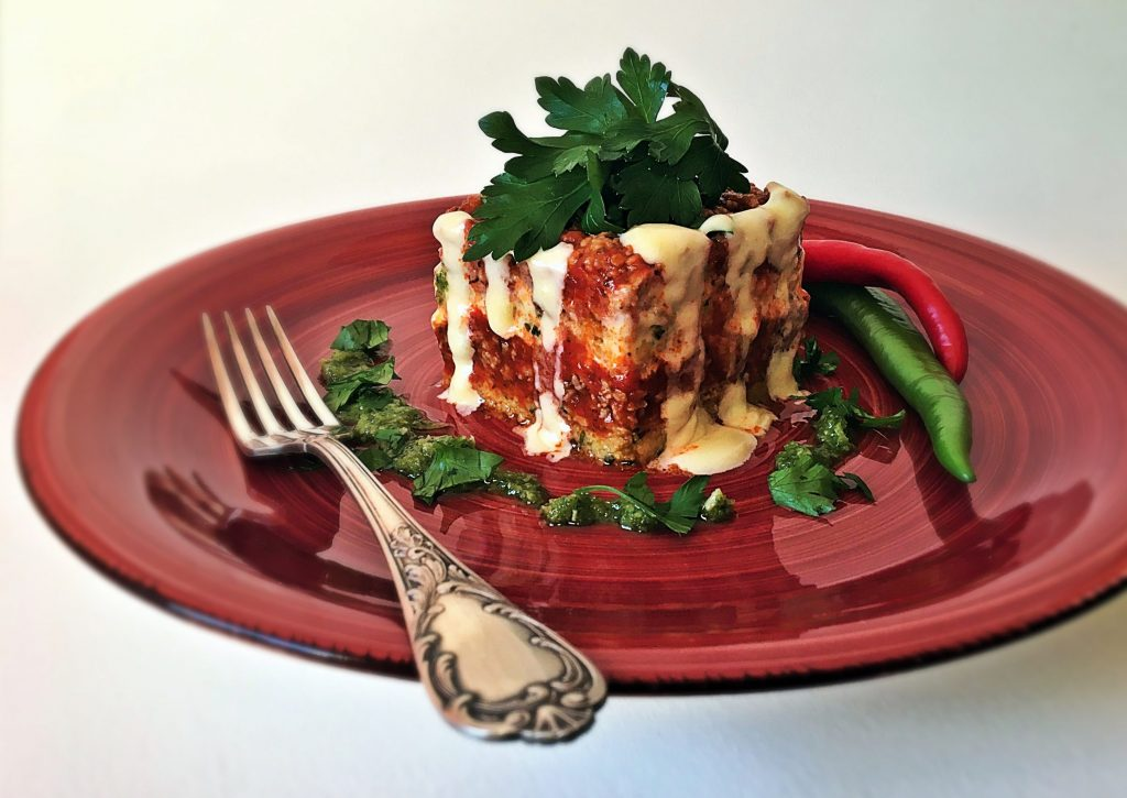 Polenta-Lasagne mit Bolognese
