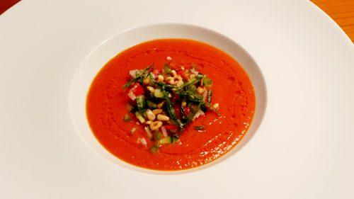 Frisches Tomatensüppchen