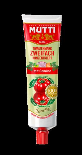 Zweifach konzentriertem Tomatenmark mit gemuse
