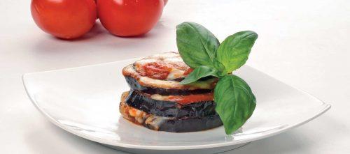 Millefeuille d'aubergines au parmesan