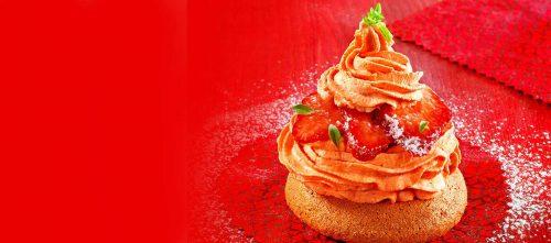 Duo de meringue à la tomate et aux fraises