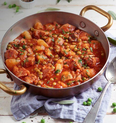 Blanquette de veau à la Sauce Tomate et Petits Pois