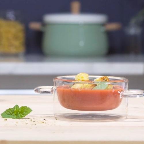 Gaspacho à la tomate et aux fraises