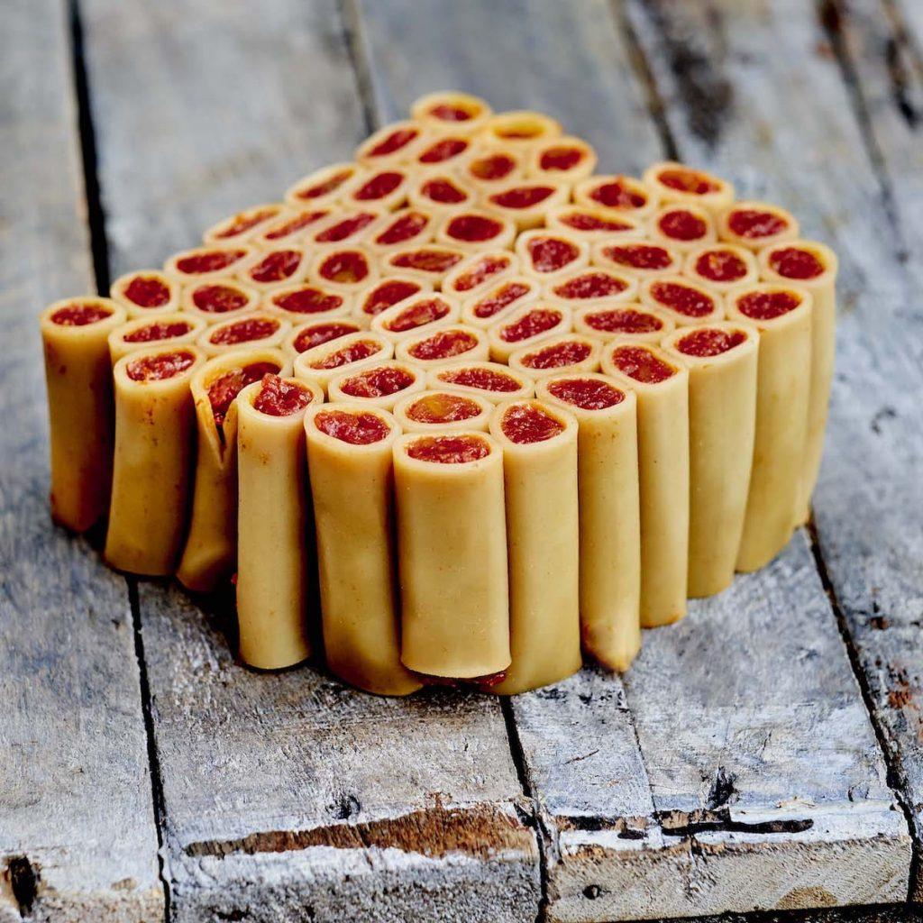Pâtes farcies au confit de tomates