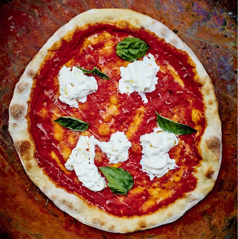 Pizza à la burrata