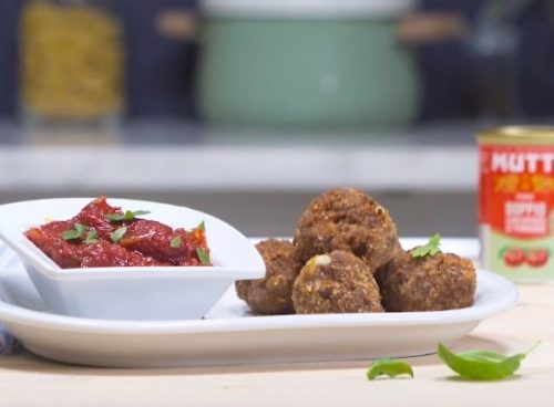 Boulettes de viande provolone et tomates