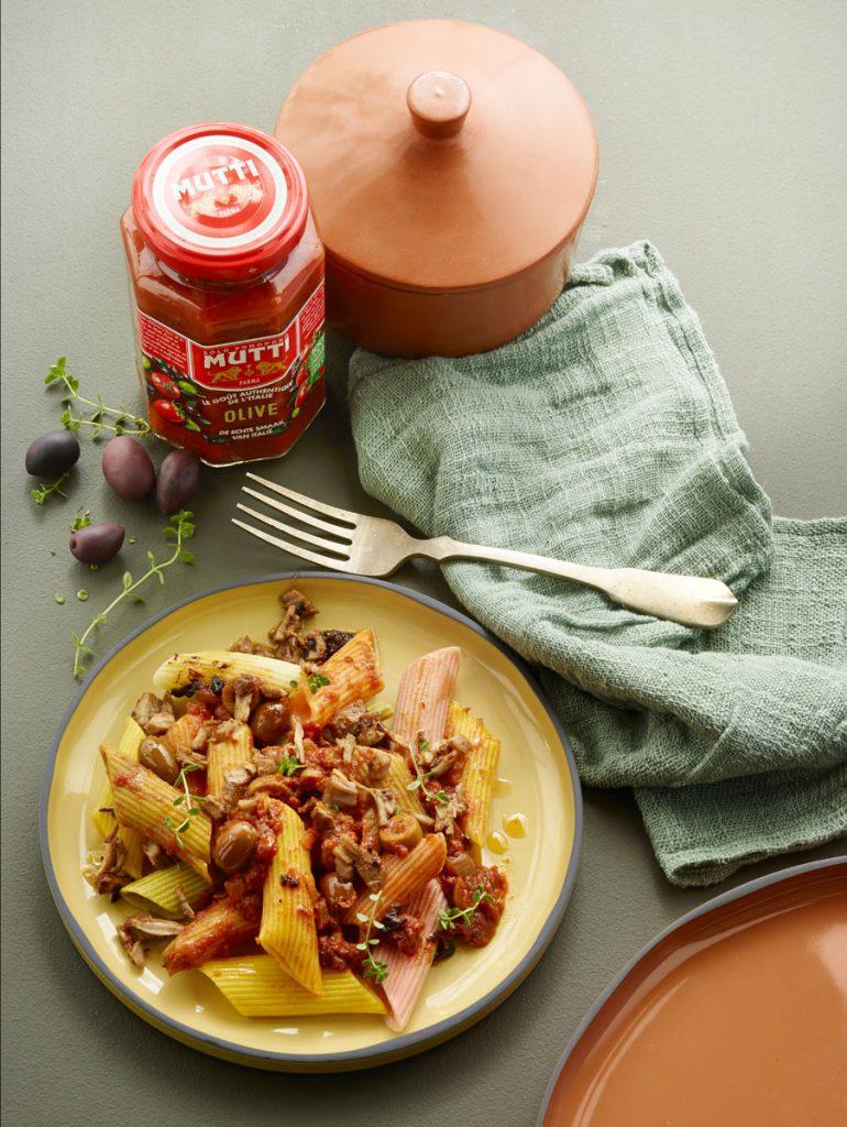 Sauce tomates olives produit