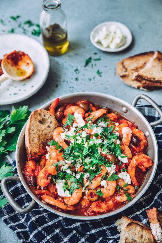Crevettes à la grecque