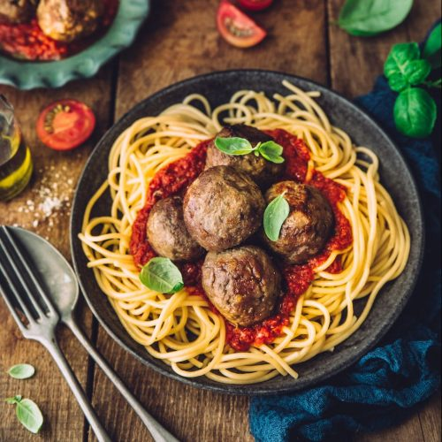 Polpette de bœuf à la sauce tomate