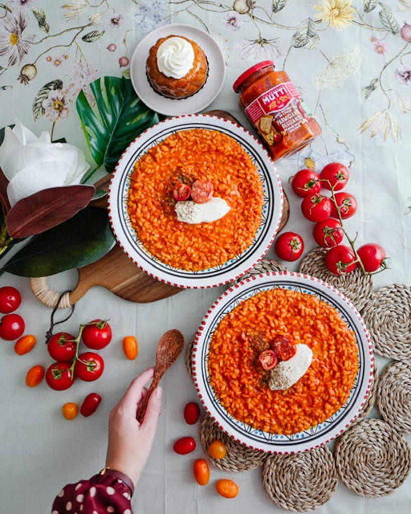 Risotto à la tomate et au chorizo