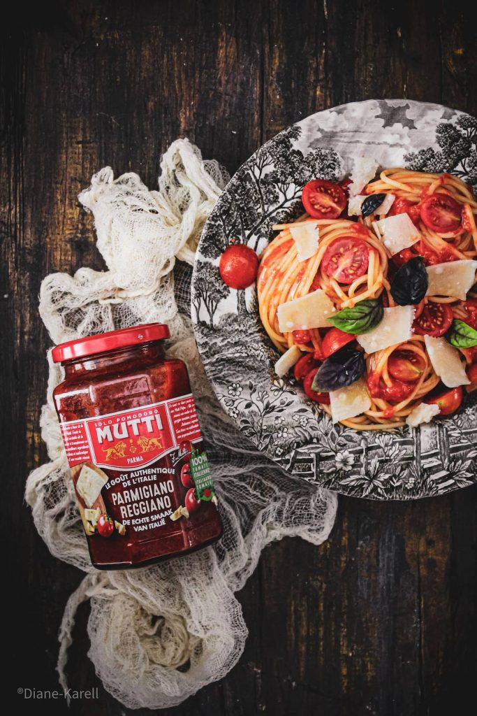 Spaghetti aux tomates cerises