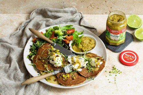 Pancakes au Pesto de tomates vertes