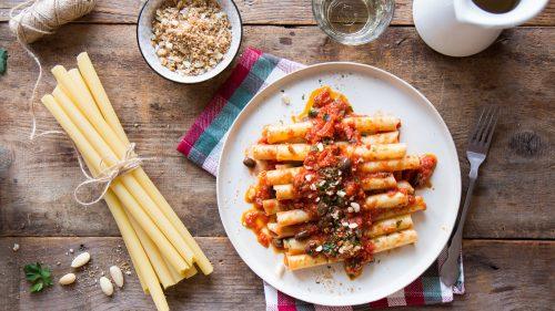 Ziti méditerranéennes aux anchois