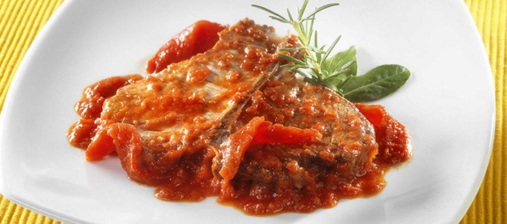 Côtelettes de porc à la paysanne aux Tomates finement concassées Mutti