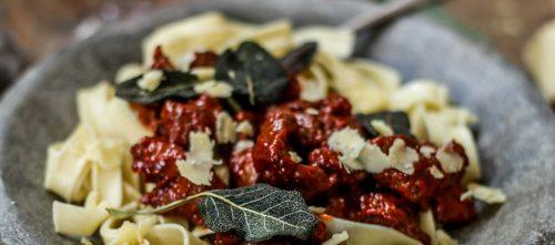 Italian Sausage and Sage Fettuccine