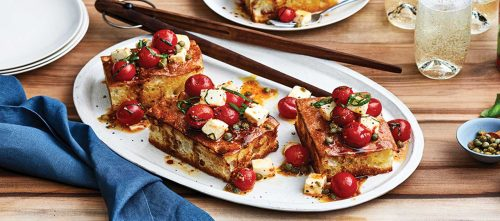 "Focaccia with Cherry Tomato ""Salsa"""