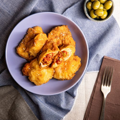 Chicken Kiev stuffed with tomato