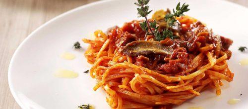 Tagliolini with porcini ragu