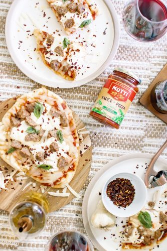 Italian flatbread pizza
