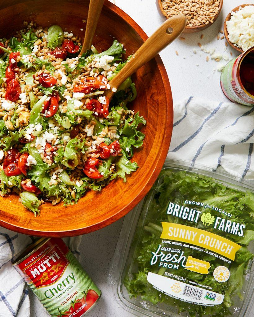 Roasted Tomato & Feta Salad Bowl