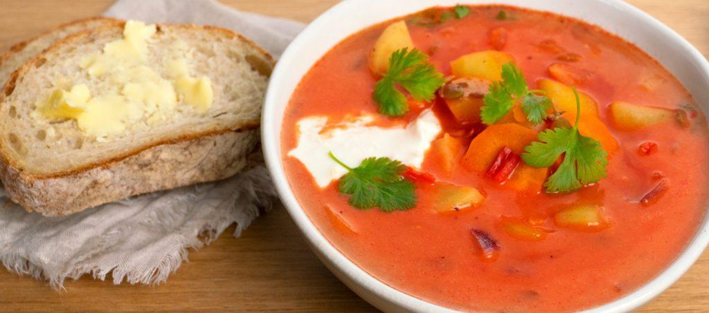 Indian tomato-lentil soup