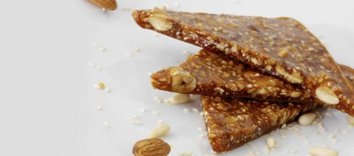 Crunchy nougat with double concentrated tomato paste