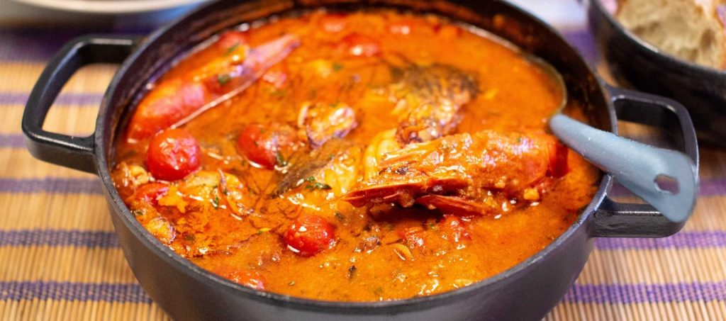 Calderta de pescado menorquin inspired fish stew