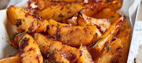 Patatas bravas con erbe, spezie e doppio concentrato