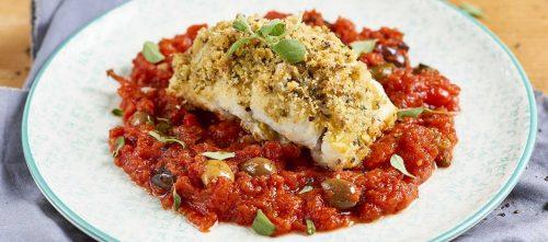 Punakampela-pistaasirullat tomaattikastikkeessa: