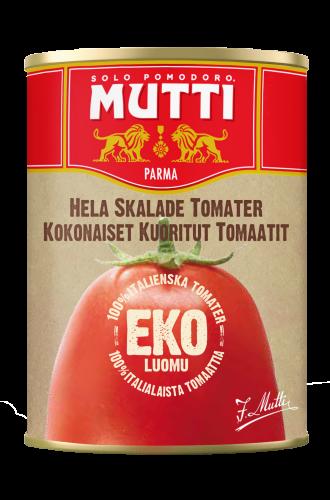Kokonaiset Kuoritut LUOMU-tomaatit